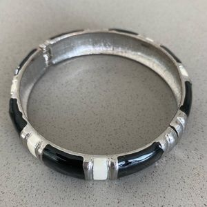Jewelry - Black, white and silver bracelet
